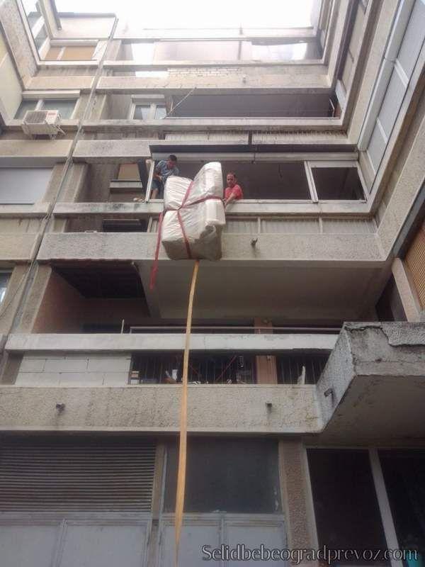 Selibe u Zgradama Bez Lifta Spoljašnjim Liftom Beograd